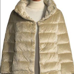 Herno Velvet Down Filled Puffer Cocoon Coat